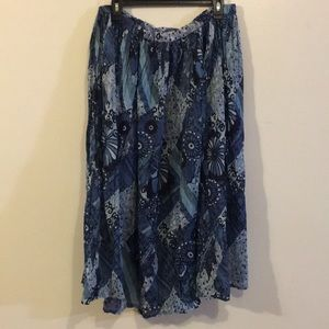 Cute full skirt Shades of blue Cute Pre❤️ed Sz MP